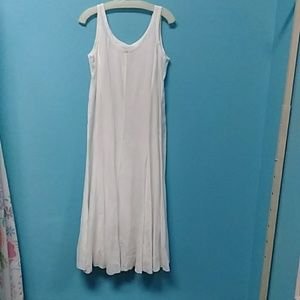 Eileen Fisher sleeveless white linen dress S